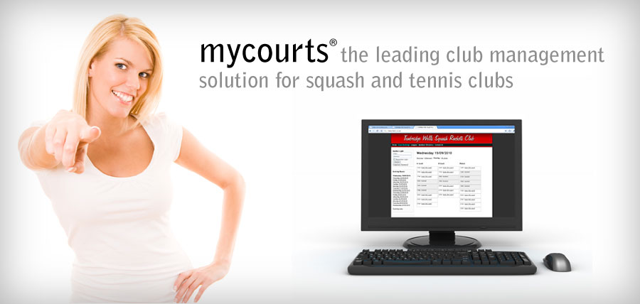MYCOURTS the leading online court reservation system for squash and tennis clubs
